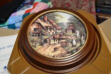 The Apple Pickers In A Wood Frame By Wedgwood, Bone China, Made In England