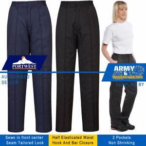 Ladies Elasticated Workwear Trouser Comfortable Work Pants Healthcare Beauty