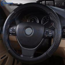 Black Universal Auto Van Truck Car Steering Wheel Cover Protector 38 cm /15 Inch