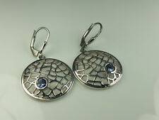 TANZANITE LEVER BACK EARRINGS 925 STERLING SILVER 0.50CT