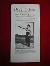 Original Vintage S&W 1950s HELPFUL HINTS Box Brochure Flyer Smith & Wesson