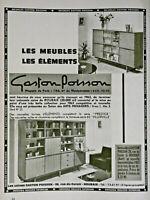PUBLICITÉ DE PRESSE 1963 LES MEUBLES LES ÉLÉMENTS GASTON POISSON - ROUBAIX