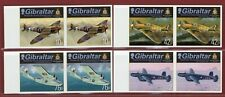 Gibraltar #1370-73, Imperf Proof, Pair, Royal Air Force Planes