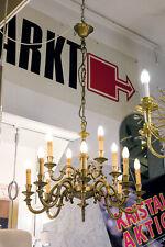 Luster FLÄMISCH Lüster KRONLEUCHTER DM 55cm H 52cm 12 Brennstellen MESSING ANTIK