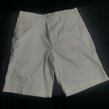 Nike Golf Performance Men's Water Resistant Shorts Size 34 White Dri-Fit