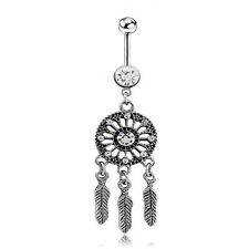 New Arrival Jewelry Dream Catcher Navel Dangle Belly Barbell Button Bar Ring