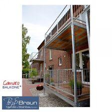 4,00 m x 1,50 m Balkon Stahl verzinkt Vorbaubalkon Balkonbausatz Stabgeländer