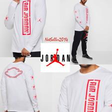 🆕 SZ XL SOLD OUT 🔥 Jordan T-Shirt Tee City Of Flight 23 Fly Long Sleeves White