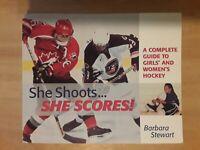 Skating, Hockey Teaching Book. Womens, Girls. She Shoots She Scores. Sports