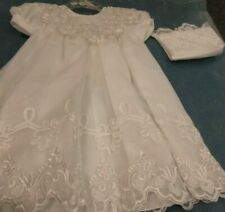 NWT Girl's Christening Gown with Matching Hat Size XS