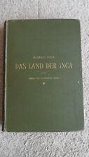 Das Land Der Inca, Rudolf Falb, 1883 First Edition, German Text.