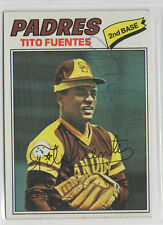 Tito Fuentes 1977 Topps signed auto autographed card San Diego Padres