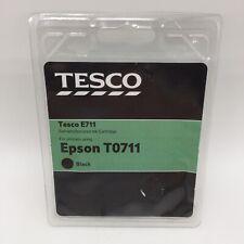 Epson T0711 Remanufactured Black Ink Cartridge Tesco E711 - New & Sealed