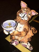 Blue Sky Clayworks Ginger Cat Tealight By Heather Goldminc