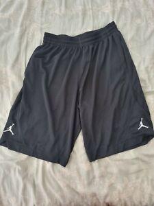*Mens Air Jordan Basketball Shorts L Black Nike gym*