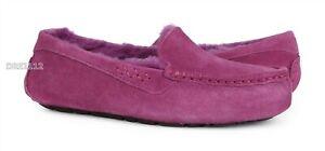 UGG Ansley Dark Dusty Rose Suede Fur Slippers Womens Size 9 *NIB*
