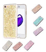 Glitzer Pailletten TPU Hülle iPhone 7 / 8 Silikon Schutzhülle Cover Etui Case