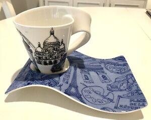 Villeroy & Boch Coffee Tea Mug & Saucer Paris BRAND NEW