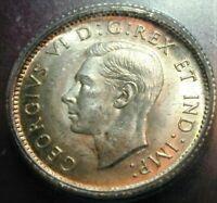 1937 Canada 10 Cent Silver ICG MS64 Condition   (370)MIZIB