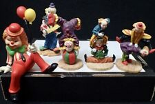 lot 5 vintage acrobatic circus clowns collectible clown figurines 1 is Enesco