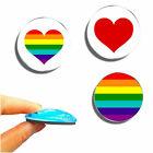 Glas Magnete stark bunt rund - Pride & Liebe - Kühlschrank Deko Tafel & Pinnwand