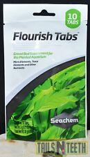 Seachem Flourish Tabs - 10 Tablets - Gravel Bed Supplement for Planted Aquariums