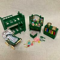 Sylvanian Families Green Furniture 4 Set Miniature Vintage Calico Critters Epoch