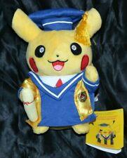"8"" Pikachu Graduate Graduation Poke Plush Official Pokemon Center Dolls Toys"