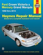 Crown Victoria Grand Marquis Repair Manual NEW Service Book owners Shop 88-2010