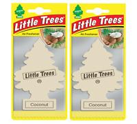 2 X Magic Tree Little Trees Car Air Freshener - Coconut