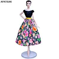 Colorful Floral Countryside 1/6 Doll Clothes For Barbie Doll Outfits Party Gown
