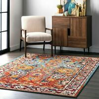 nuLOOM Traditional Transitional Vintage Floral Mallory Multi Area Rug