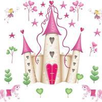 Wall Sticker Art Princess Fairy Castle Wall Stickers Decals Kids Bedroom