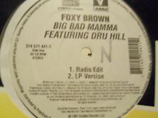 "Foxy Brown feat. Dru Hilll ""Big Bad Mamma"" PROMO LP Vinyl 90's Rap Hip-Hop"