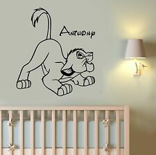 Custom Name Decal Simba Lion King Wall Sticker Disney Art Nursery Decor ling17