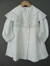 Antique coat dress jacket for a large doll with broderie anglaise frill collar