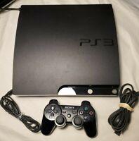 Sony Playstation 3 Slim Black 120GB Model CECH-2101A w/ Controller TESTED