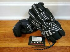 "NWT Warrior Tempo Elite Lacrosse 13"" Gloves Black NEW ~ MSRP $39"