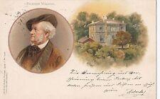 I 20 - Porträt Richard Wagner, LITHO Bayreuth, Villa Wahnfried,1899 gelaufen RAR