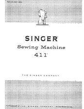 Singer 411 Sewing Machine/Embroidery/Serger Owners Manual
