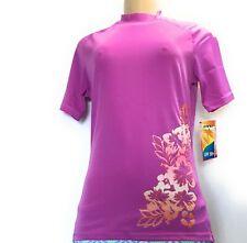 Kanu Surf Women's UPF 50+ Short Sleeve Active Rashguard/ Workout Top, Purple3