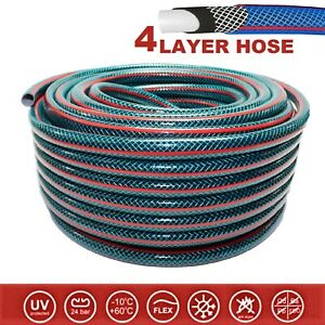 """4-LAYER Hosepipe STRONG Garden Hose Pipe REINFORCED Outdoor 1/2"""" 3/4"""" 20 30 50 m"""