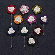 20 pcs,20 colors Men's Felt flower Boutonniere Tuxedo Wedding Casual Lapel Pin