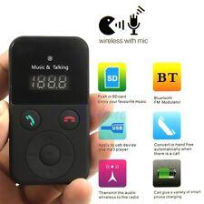 Car Remote Wireless Handsfree Bluetooth FM Transmitter Kit USB SD LCD MP3 Mic