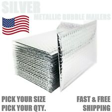 Silver Metallic Bubble Mailers Padded Envelope Protective Packaging Bags Mailers
