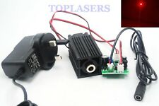 Focusable 100mw 650nm Red Dot Laser Diode Module + TTL + Fan + 12V Adapter