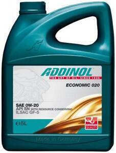 5 Liter ADDINOL SAE 0W-20 Economic 020 Speziell für asiatische + amerikanische