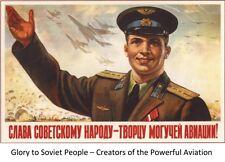 WW2 Russian Soviet Color POSTER Soldier  Propaganda Full Color, LQQK & Buy Now!