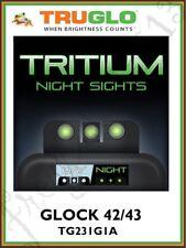 TRUGLO Brite-Site Tritium Handgun/Pistol Night Sights - GLOCK 42 & 43 - TG231G1A