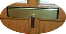 LETTERBOX LOCK IN BROWN WITH ADJUSTER FOR VARIOUS DEPTH INTERNAL LETTERBOX FLAPS